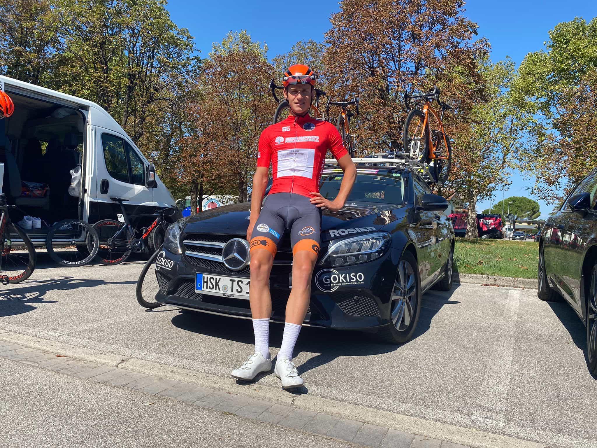 Michiel Stockmann im roten Sprintertrikot (Quelle: Tomasso Fontana)